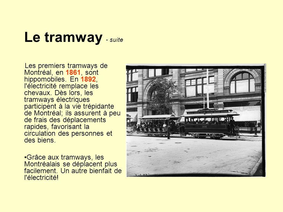 Le tramway - suite