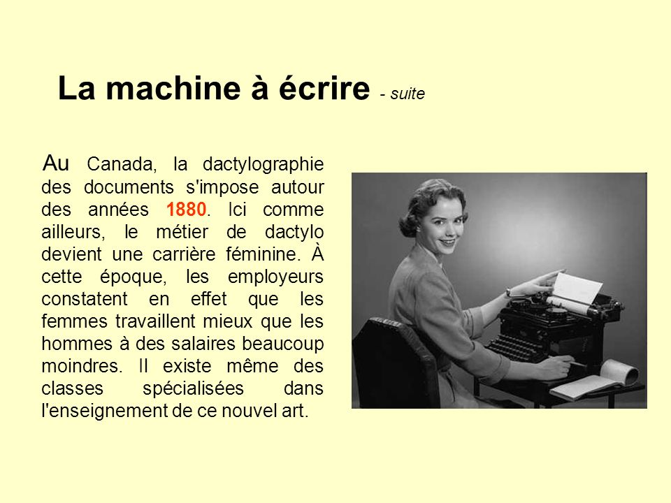 La machine à écrire - suite