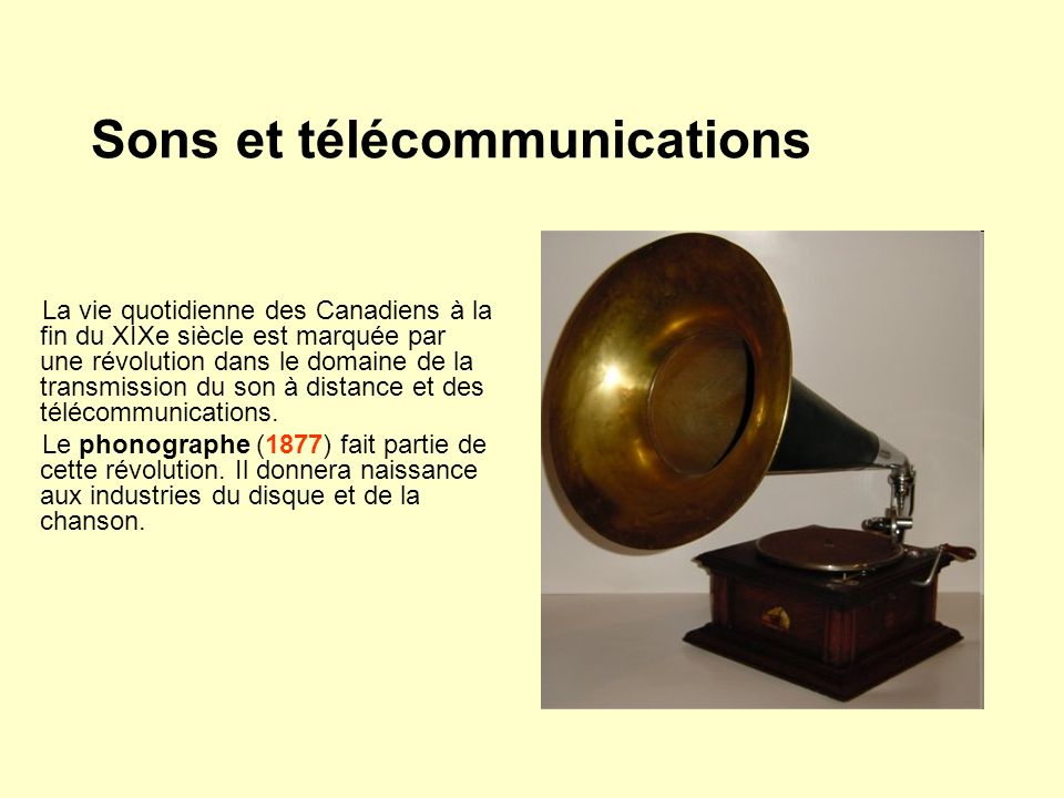 Sons et télécommunications