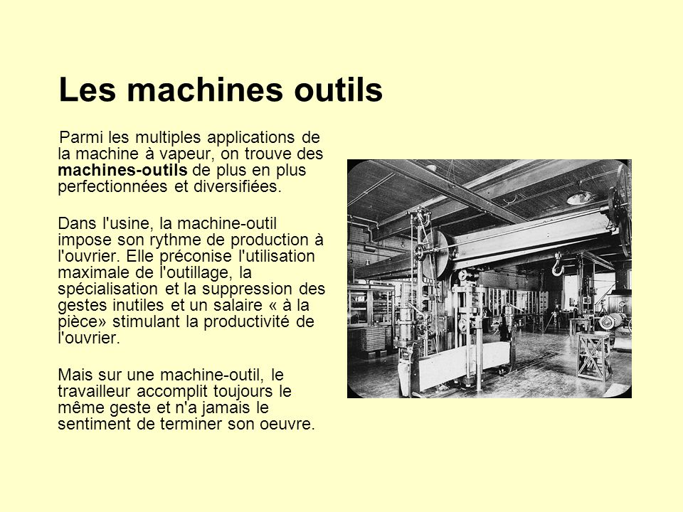 Les machines outils