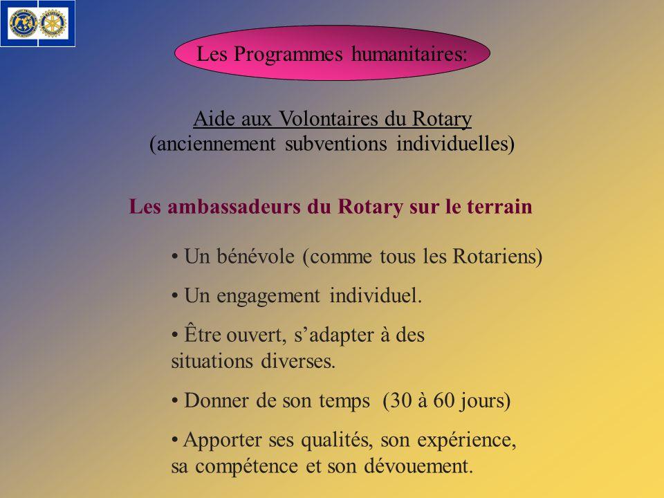 Les ambassadeurs du Rotary sur le terrain
