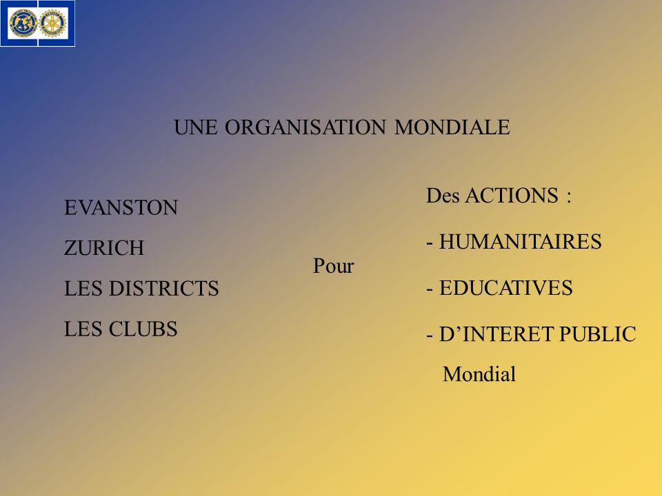 UNE ORGANISATION MONDIALE