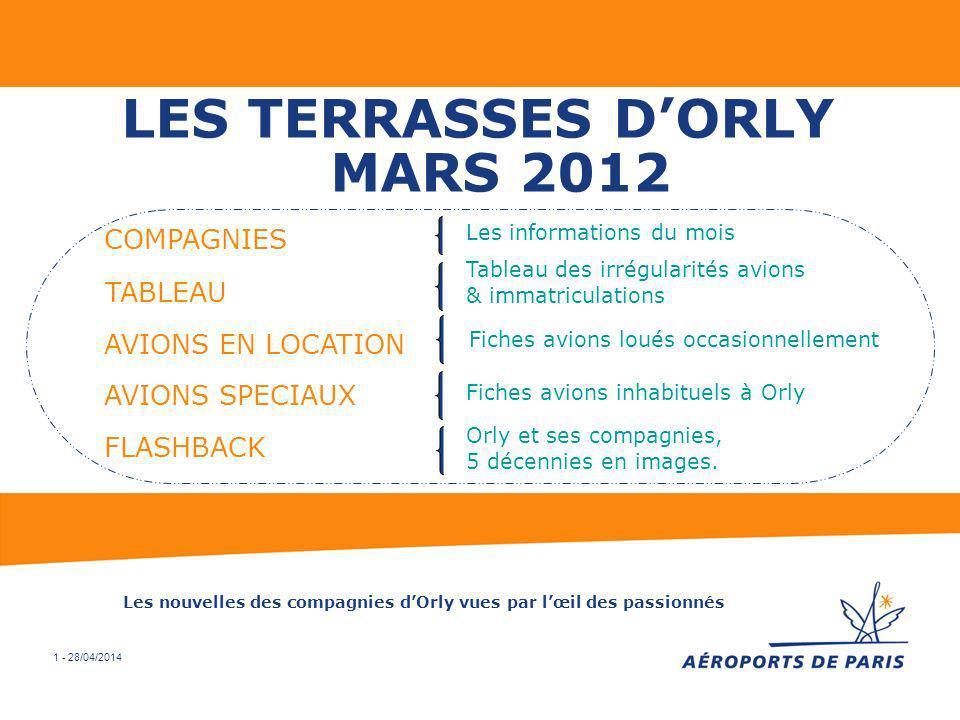 LES TERRASSES D'ORLY MARS 2012