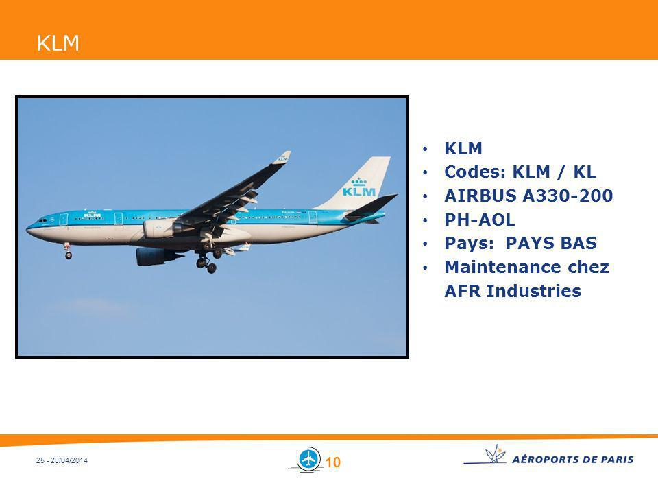 KLM KLM Codes: KLM / KL AIRBUS A330-200 PH-AOL Pays: PAYS BAS