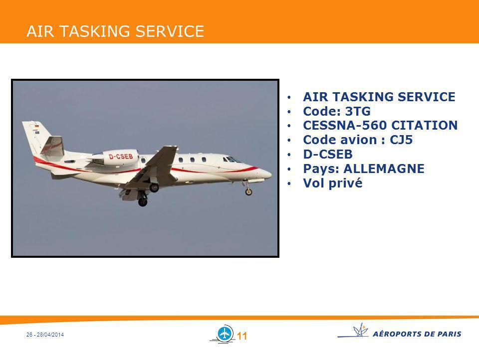 AIR TASKING SERVICE AIR TASKING SERVICE Code: 3TG CESSNA-560 CITATION