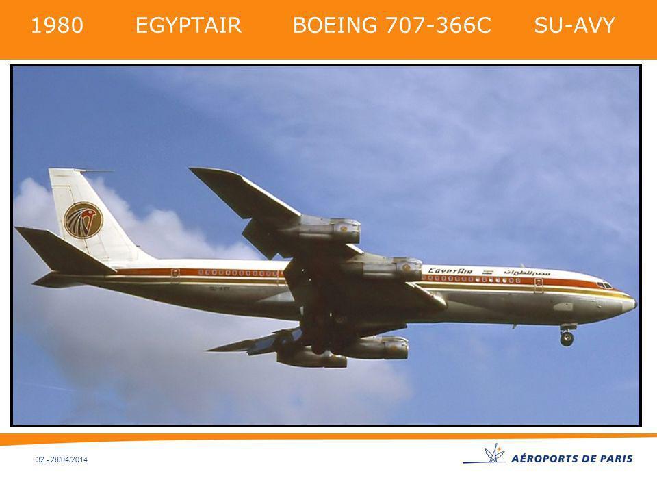1980 EGYPTAIR BOEING 707-366C SU-AVY