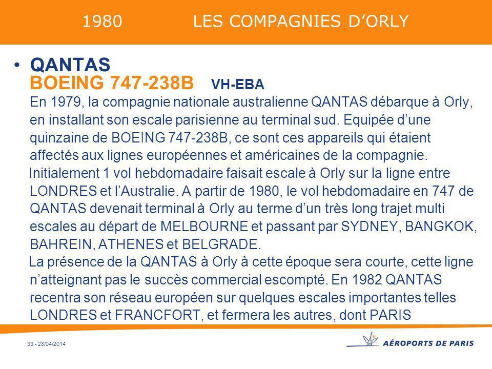 1980 LES COMPAGNIES D'ORLYQANTAS.