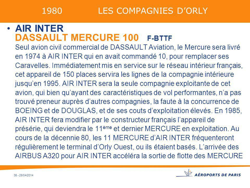 1980 LES COMPAGNIES D'ORLY AIR INTER.