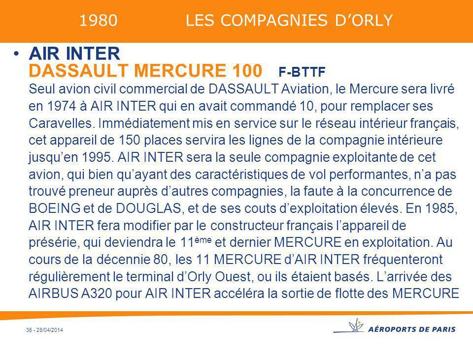 1980 LES COMPAGNIES D'ORLYAIR INTER.