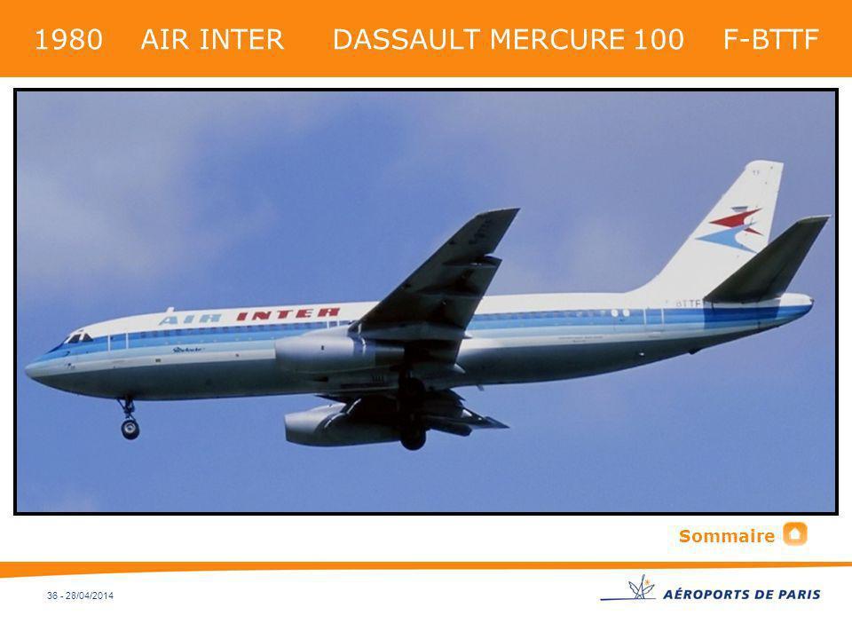 1980 AIR INTER DASSAULT MERCURE 100 F-BTTF