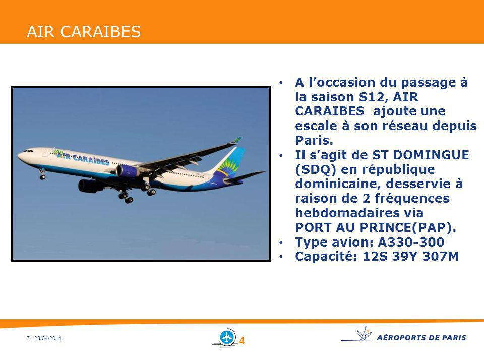 AIR CARAIBES A l'occasion du passage à la saison S12, AIR CARAIBES ajoute une escale à son réseau depuis Paris.