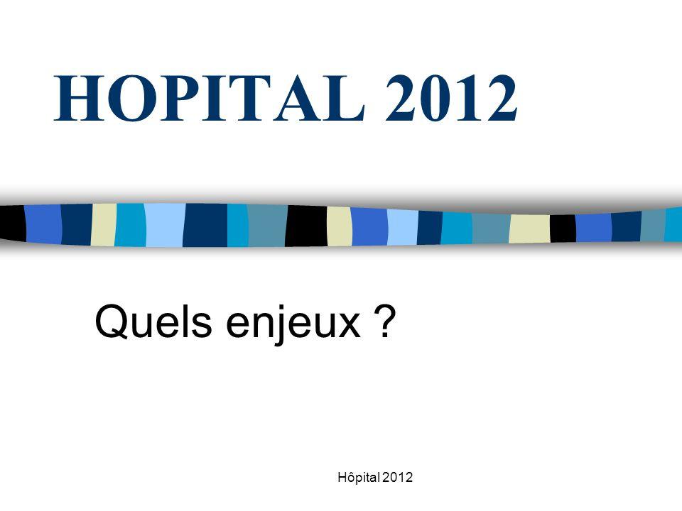 HOPITAL 2012 Quels enjeux Hôpital 2012