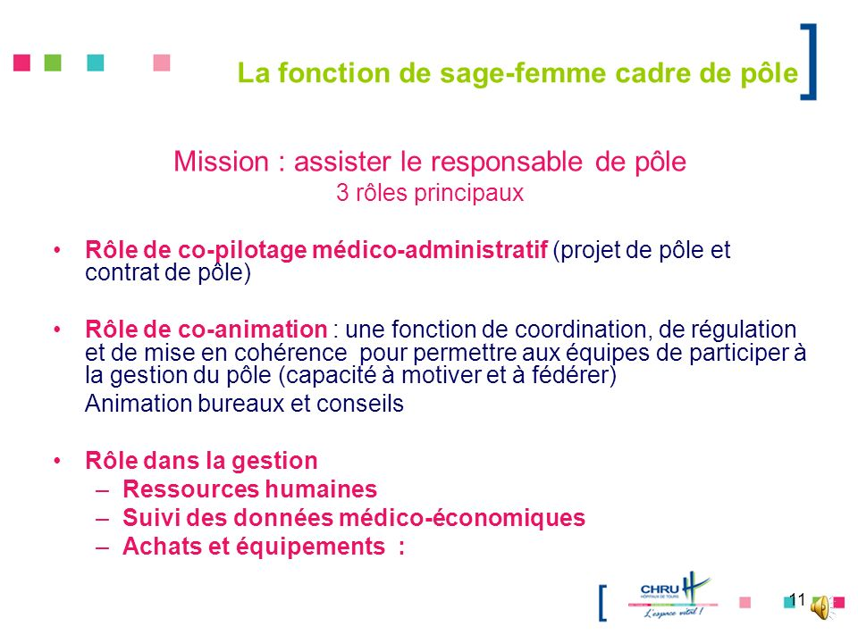 Mission : assister le responsable de pôle