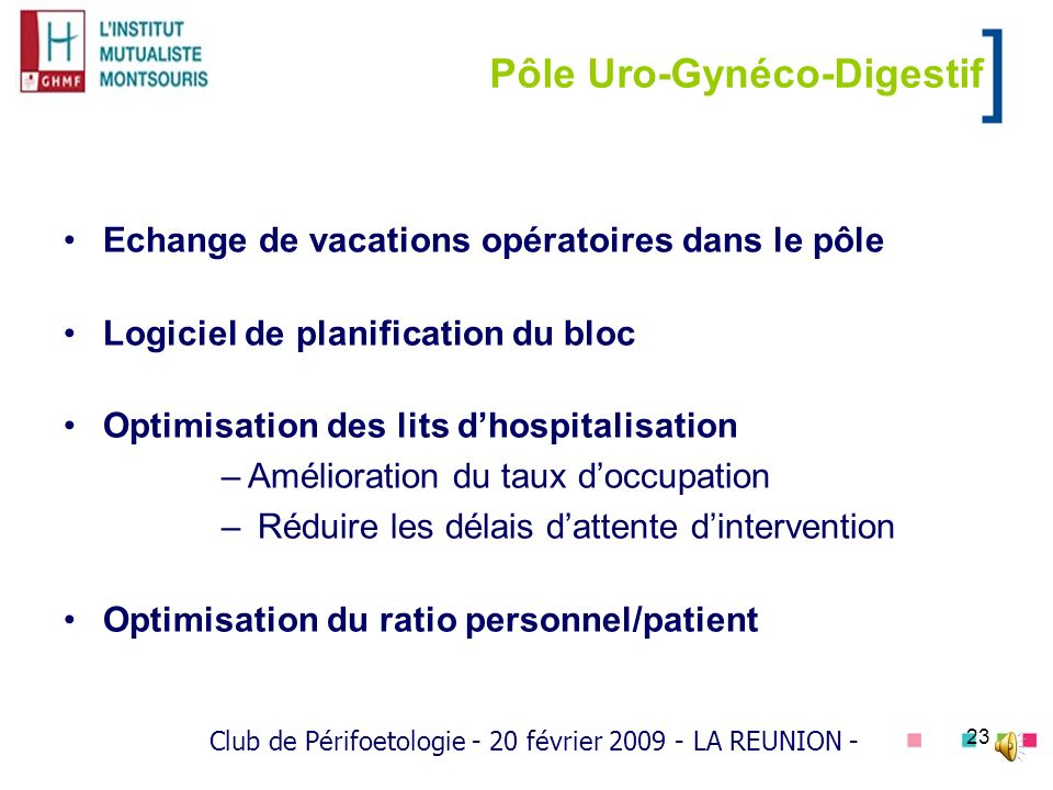 Pôle Uro-Gynéco-Digestif