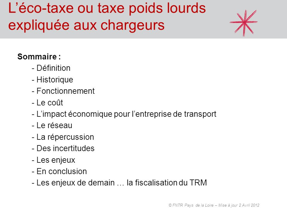 L'éco-taxe ou taxe poids lourds expliquée aux chargeurs