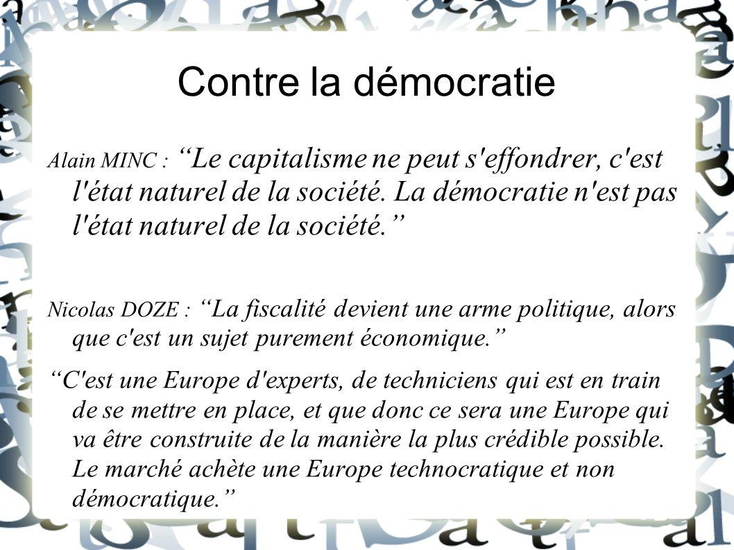 Contre la démocratie