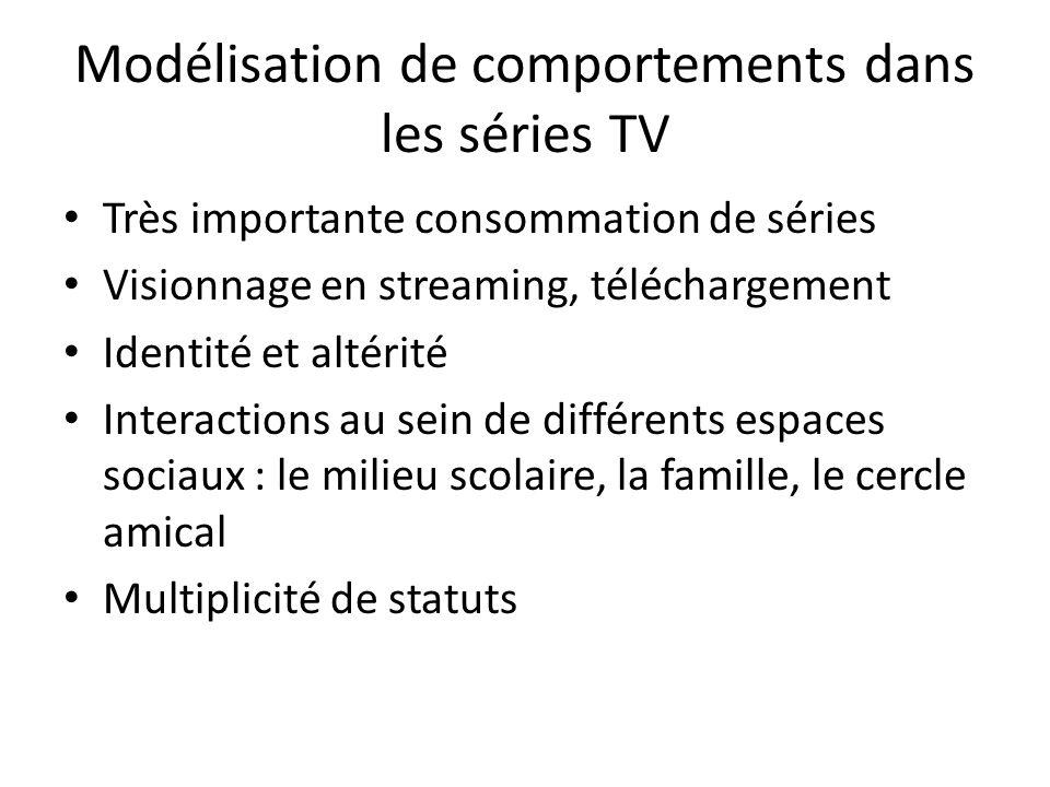 Modélisation de comportements dans les séries TV