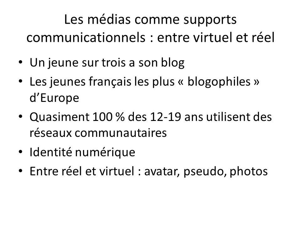 Les médias comme supports communicationnels : entre virtuel et réel