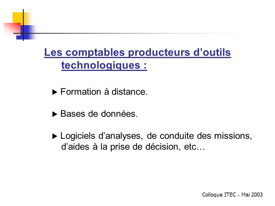 Les comptables producteurs d'outils technologiques :