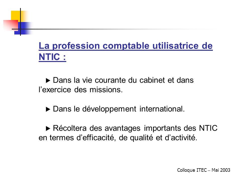 La profession comptable utilisatrice de NTIC :
