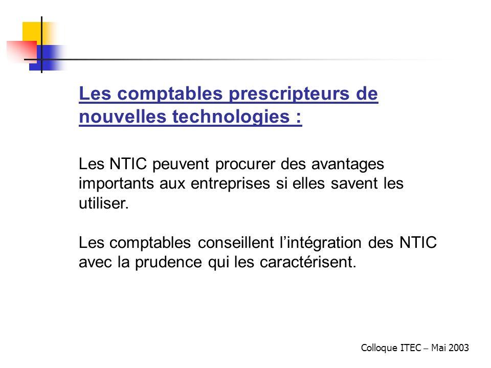 Les comptables prescripteurs de nouvelles technologies :