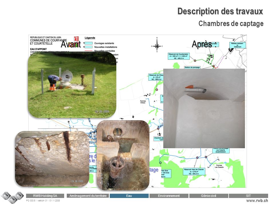 Description des travaux