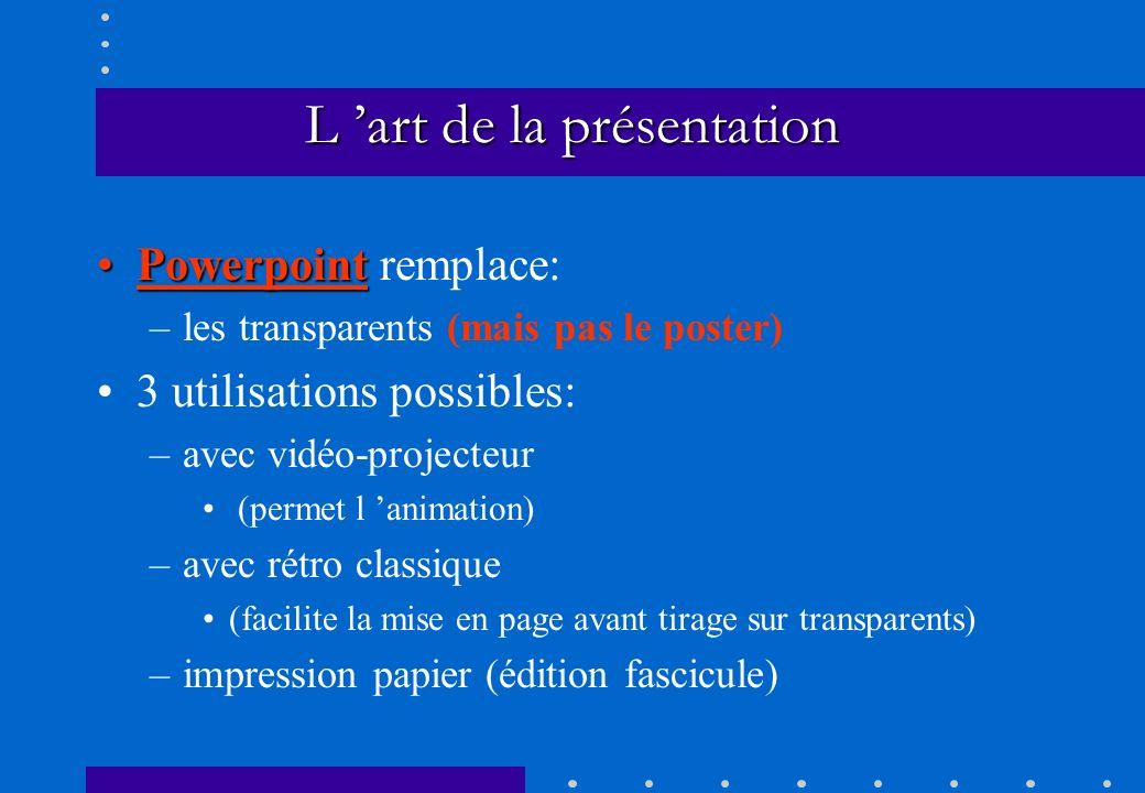 L 'art de la présentation