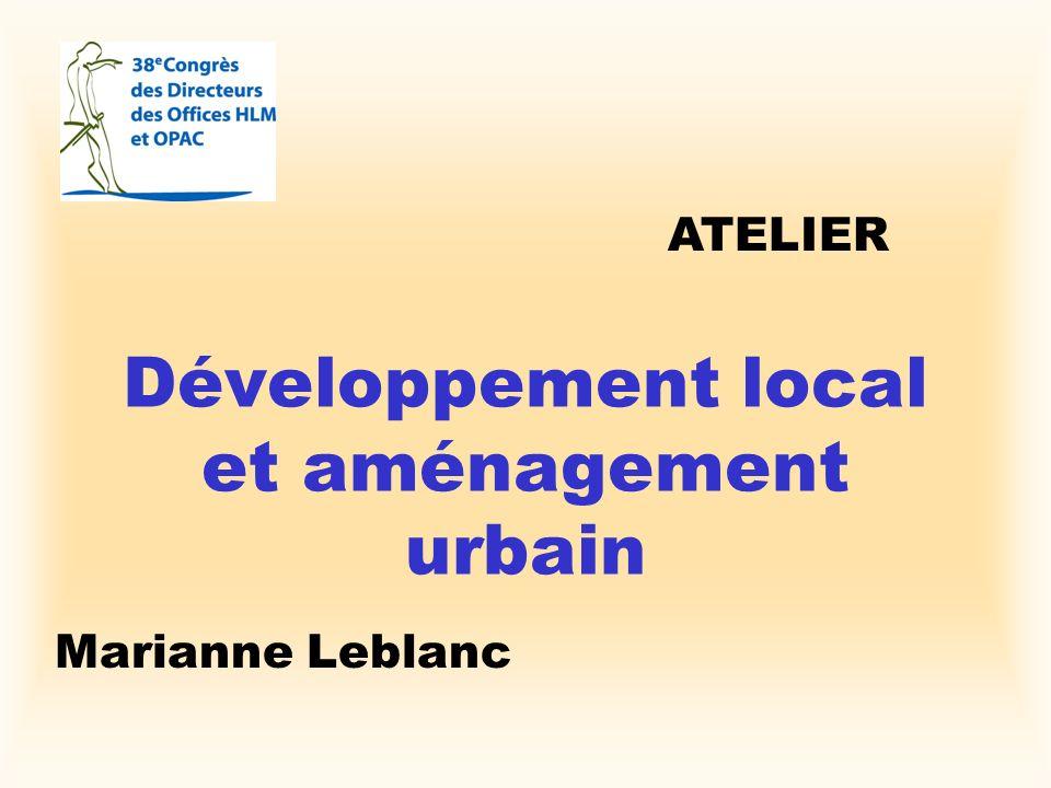 Développement local et aménagement urbain