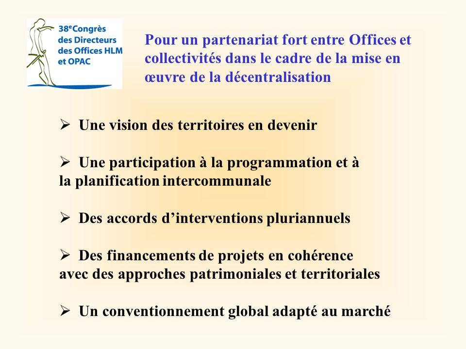 Pour un partenariat fort entre Offices et collectivités dans le cadre de la mise en œuvre de la décentralisation