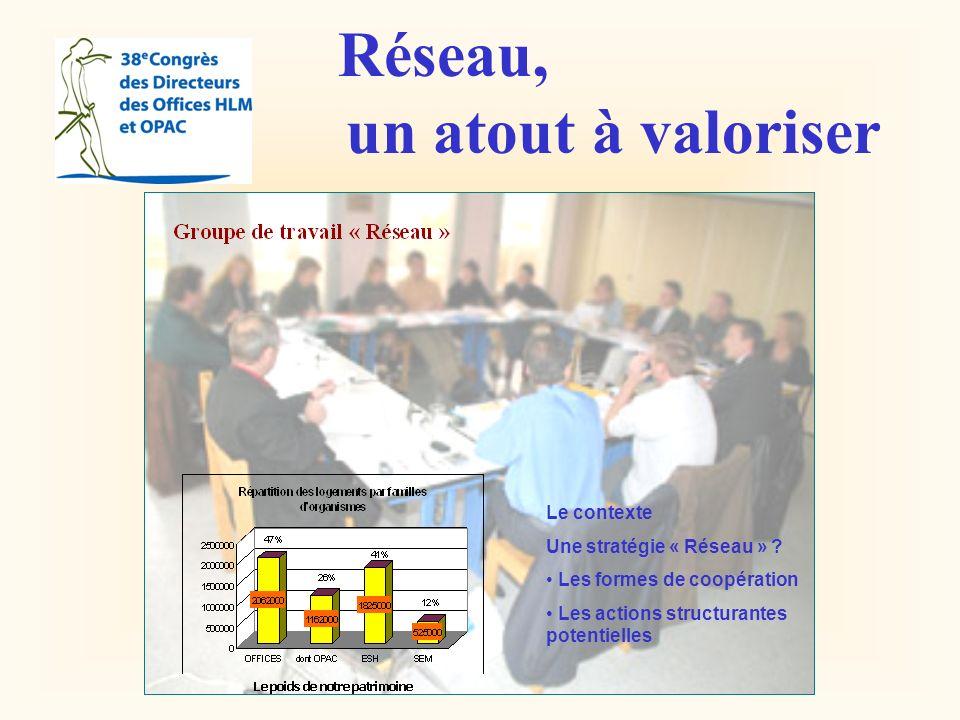 Réseau, un atout à valoriser Le contexte Une stratégie « Réseau »