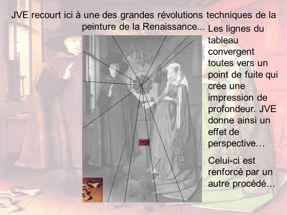 JVE recourt ici à une des grandes révolutions techniques de la peinture de la Renaissance...