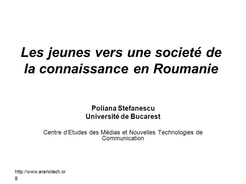 Les jeunes vers une societé de la connaissance en Roumanie