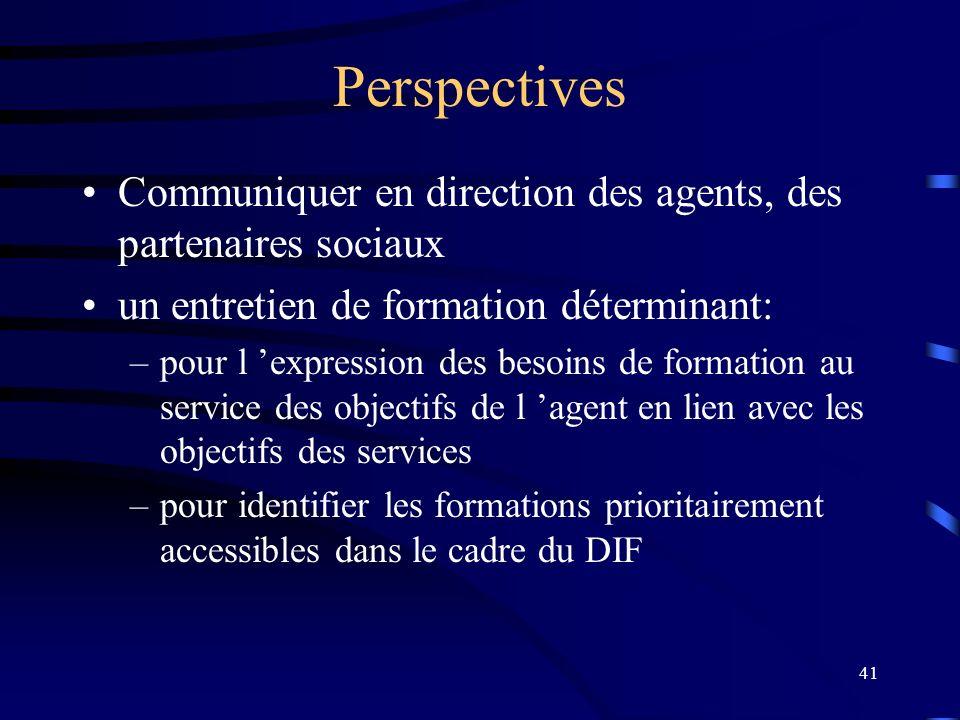 30/03/2017 Perspectives. Communiquer en direction des agents, des partenaires sociaux. un entretien de formation déterminant: