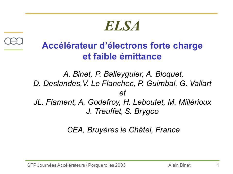 Accélérateur d'électrons forte charge