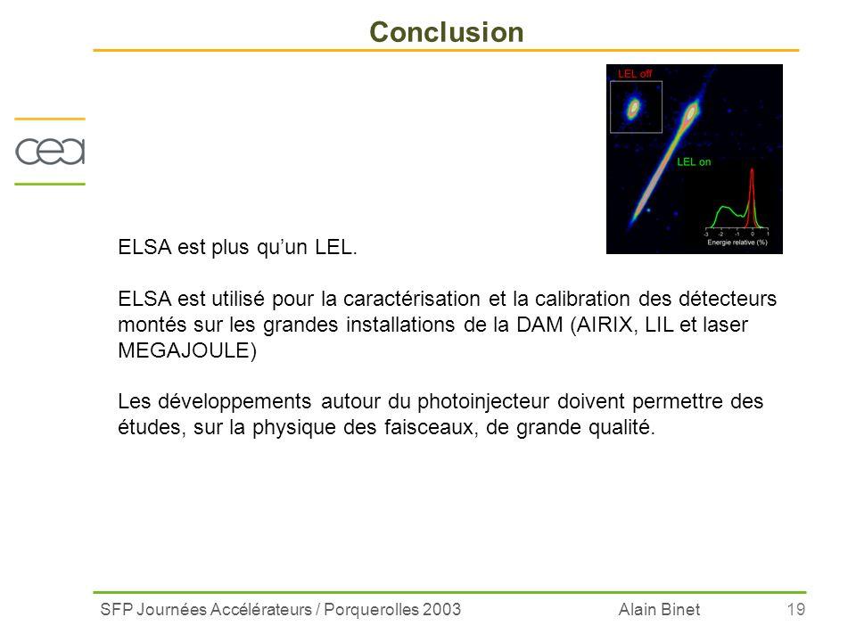 Conclusion ELSA est plus qu'un LEL.