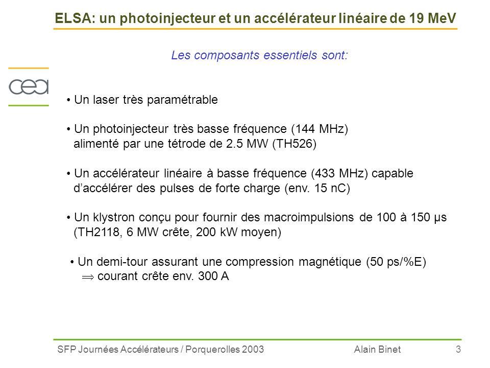ELSA: un photoinjecteur et un accélérateur linéaire de 19 MeV