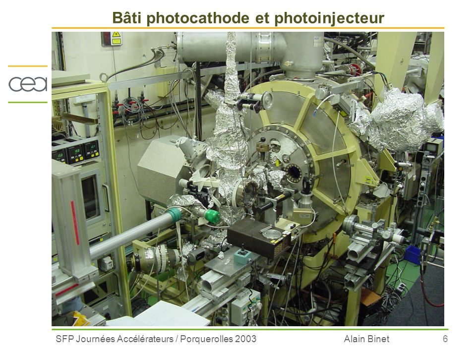 Bâti photocathode et photoinjecteur