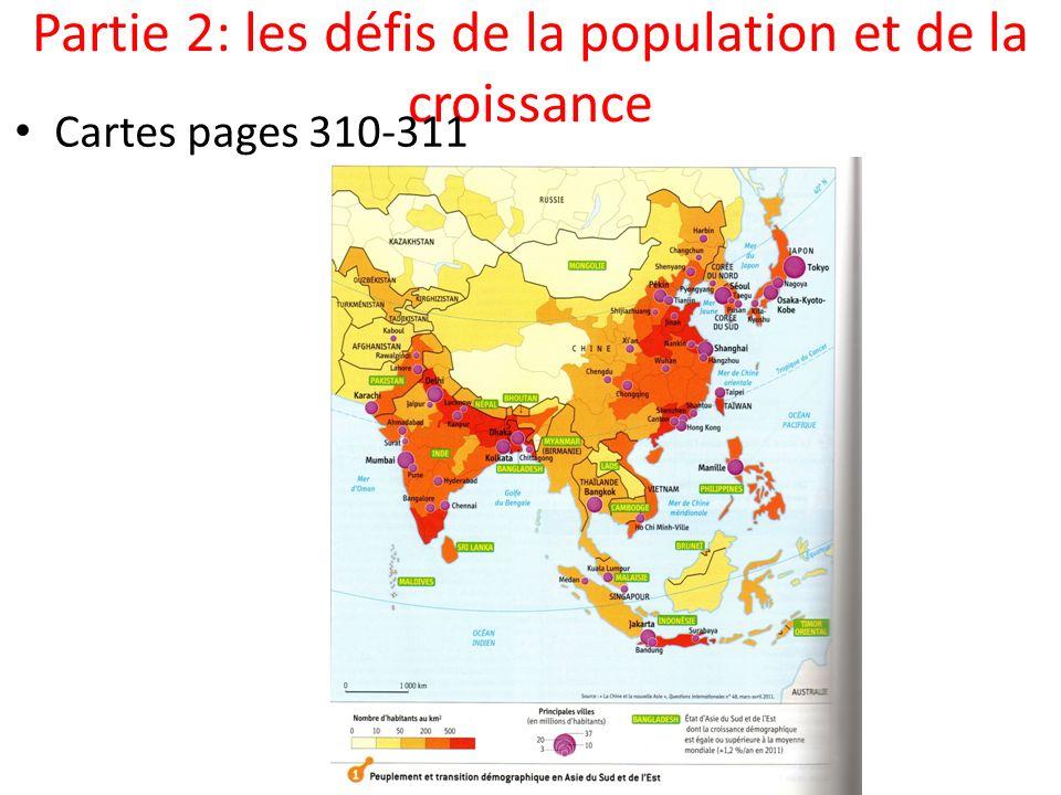 Partie 2: les défis de la population et de la croissance