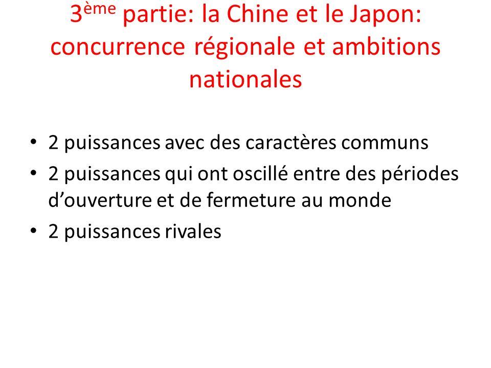 3ème partie: la Chine et le Japon: concurrence régionale et ambitions nationales