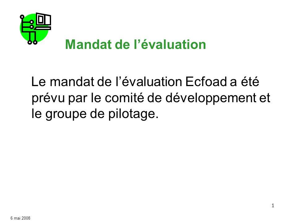 Comité de développement : Mandat pour l'évaluation ecfoad.com