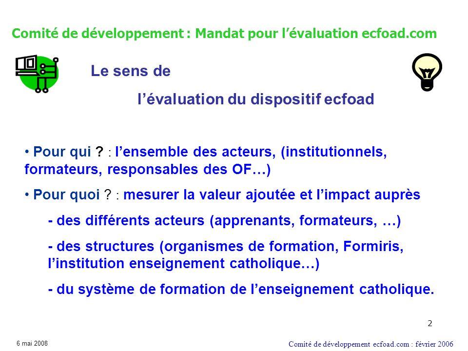 Comité de développement : Cadre pour l'évaluation ecfoad.com
