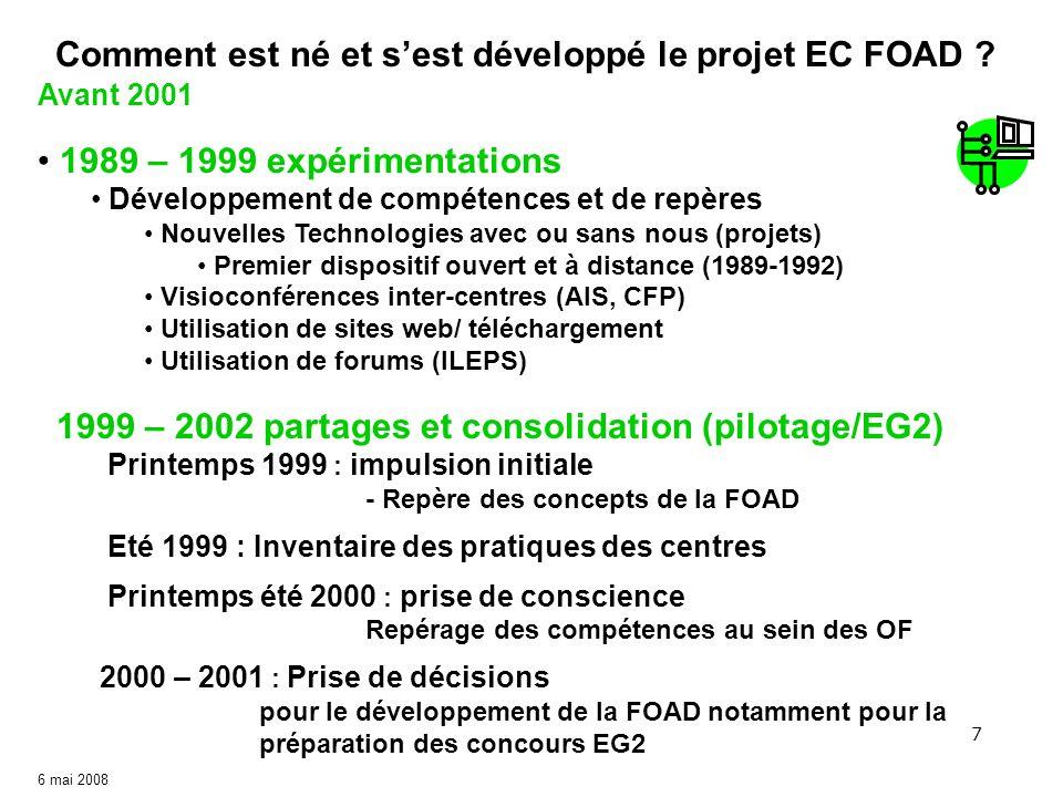 Comment est né et s'est développé le projet EC FOAD