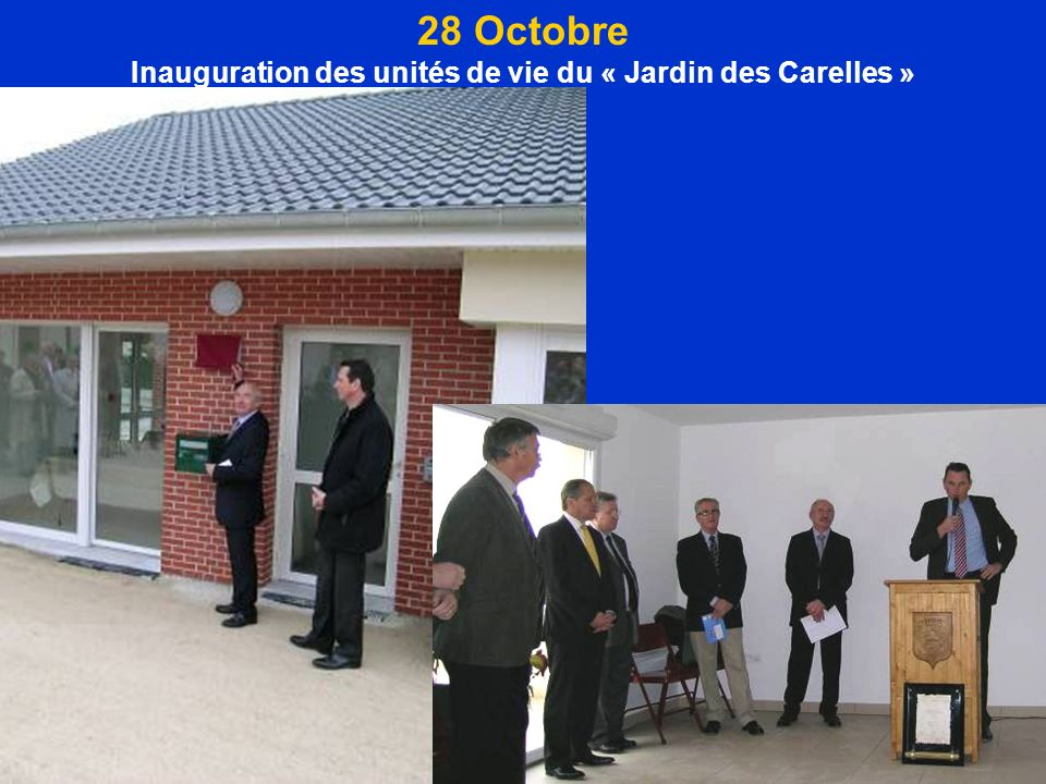 Inauguration des unités de vie du « Jardin des Carelles »