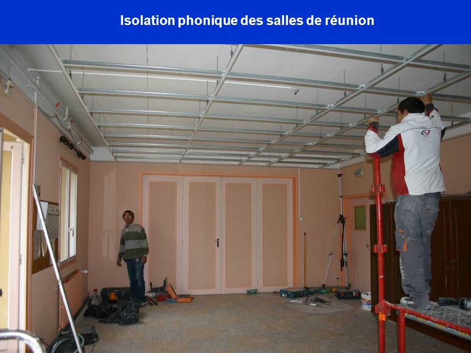 Isolation phonique des salles de réunion