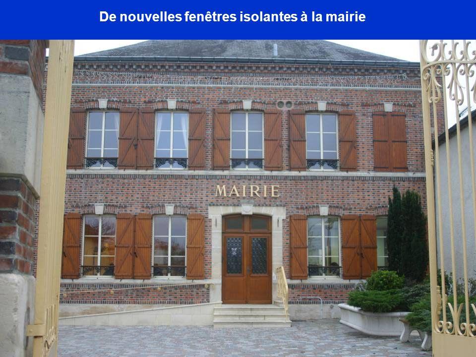 De nouvelles fenêtres isolantes à la mairie