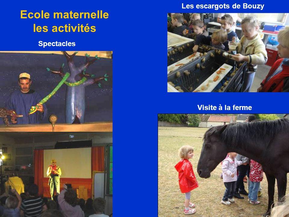Ecole maternelle les activités