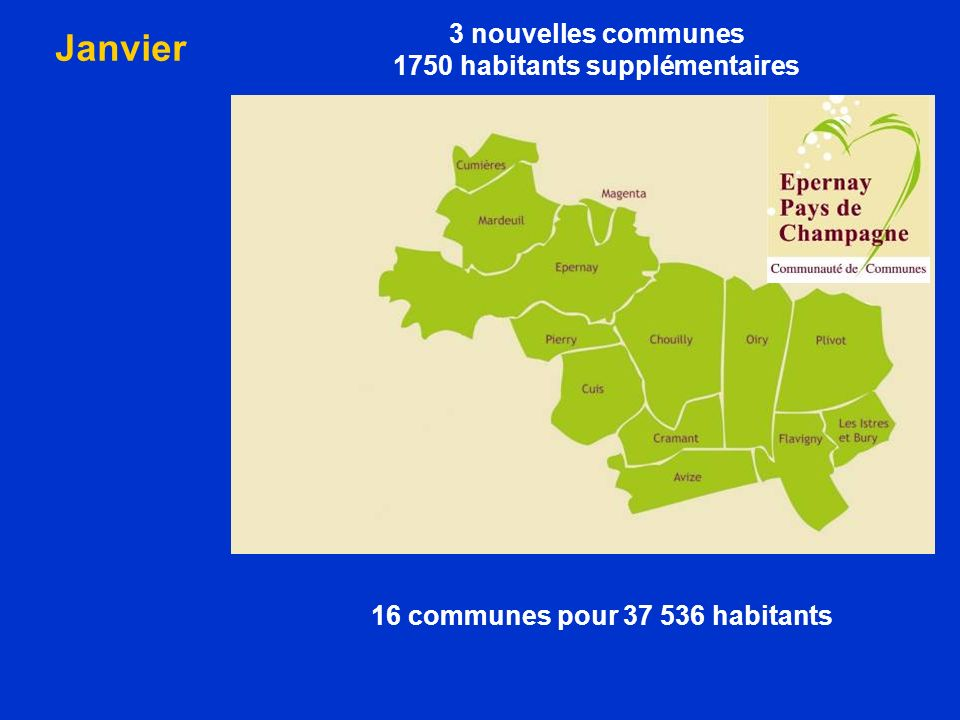 1750 habitants supplémentaires 16 communes pour 37 536 habitants