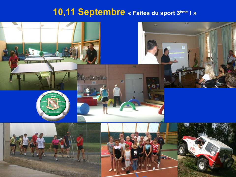 10,11 Septembre « Faites du sport 3ème ! »