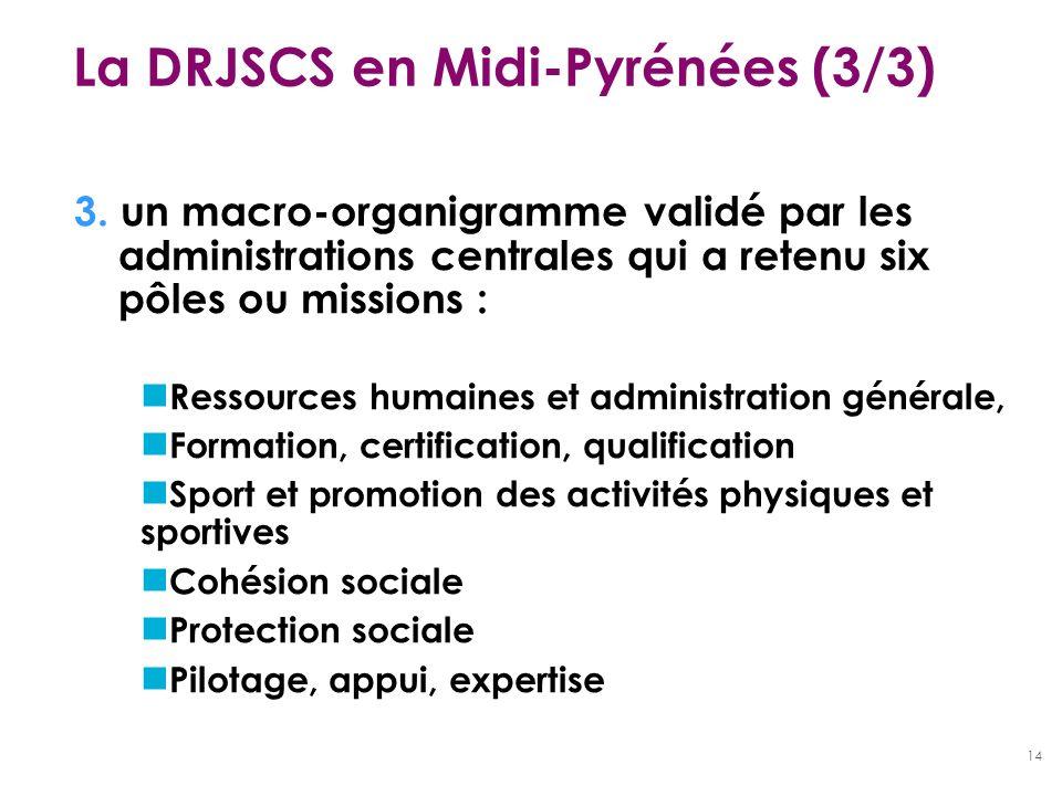 La DRJSCS en Midi-Pyrénées (3/3)