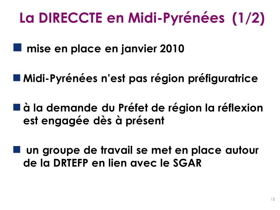 La DIRECCTE en Midi-Pyrénées (1/2)